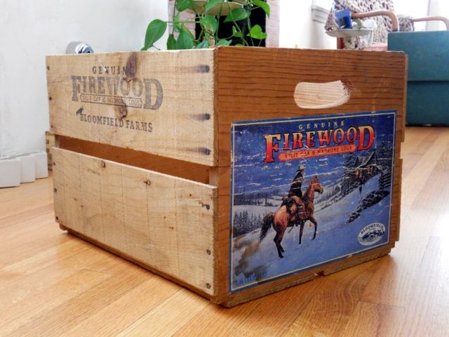 Vintage wood crate.